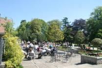 Enjoying the sunny summer days at Hazlehead Park Cafe